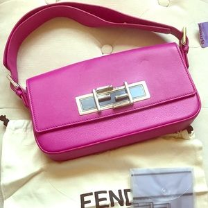 999c251b10 NWT Fendi 3 Baguette Hot Pink shoulder bag