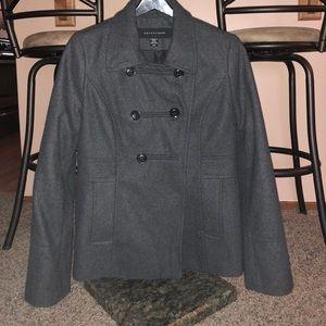 Apostrophe Pea Coat Dark Gray