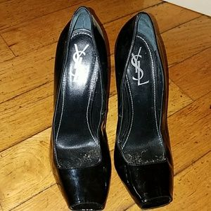 YSL open toe pumps