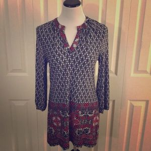 Red/Black/White/Gray Tunic, size M