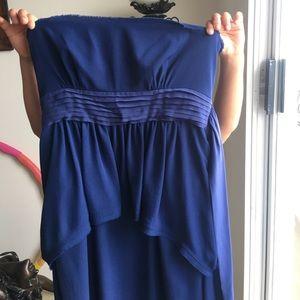 BCBG Maxazria blue evening gown