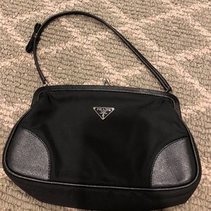 Prada Nylon Snap close pochette