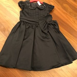 Charles David size 6 Navy Silk Party Dress