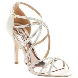Badgley Mischka Meghan strapped sandals in ivory