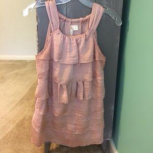Light pink layered sleeveless top