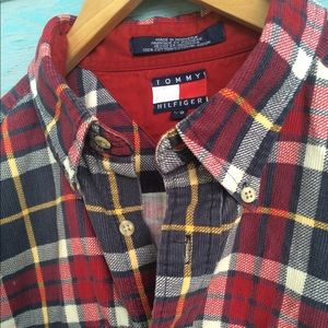 Vintage Tommy HILFIGER plaid Mens flannel large