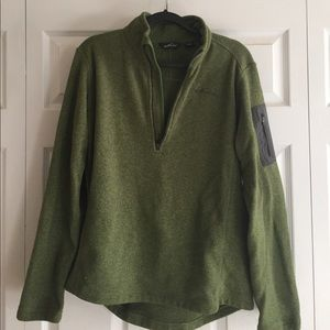 Eddie Bauer zippers fleece top