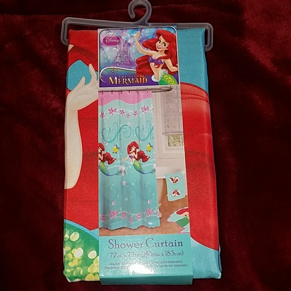 Little Mermaid Disney Fabric Shower Curtain Ariel