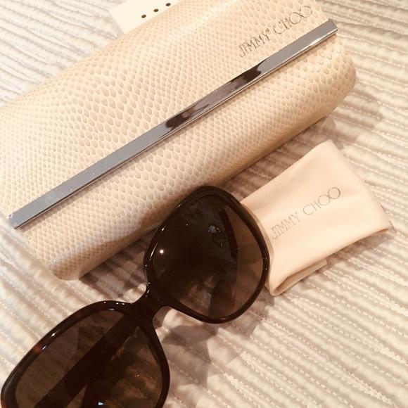 f98bd5ee80e Jimmy Choo Accessories - Jimmy Choo Tortoise Shell Sunglasses