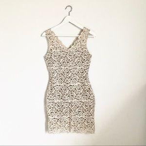 White House Black Market Dresses - White House Black Market Ivory Cream Lace Dress S