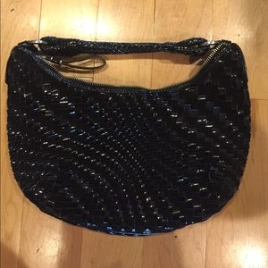 Black Genevieve Weave Bag from Cole Haan