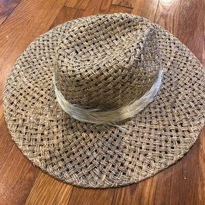 Genie by Eugenia Kim flower and straw hat