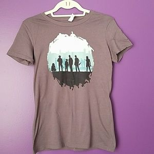 Tops - Gray Walking Dead fitted tshirt