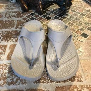 Crocs sandals size w7.