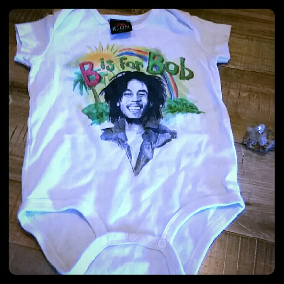 "18 Month New BOB MARLEY ""B is for Bob"" BABY ROMPER T-SHIRT ZION ROOTSWEAR"