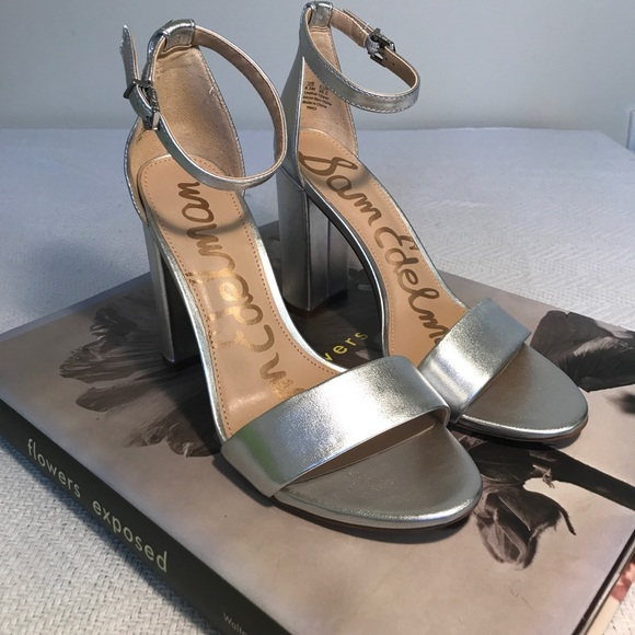 473c97924708 SAM EDELMAN • Yaro silver Sandals  FIRM