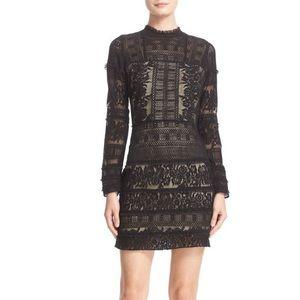 NWT Parker Julie Long Sleeve Lace Mini Dress