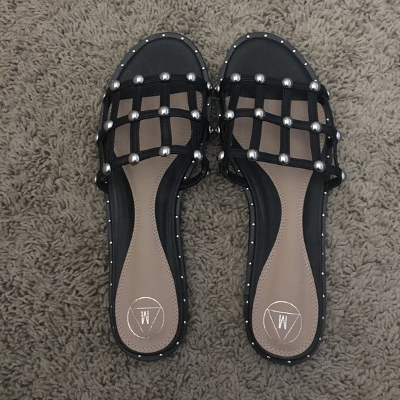7fa2b9dc92f11 Misguided Caged Studded Slides. M 5a08aca0713fdeded412b6d5