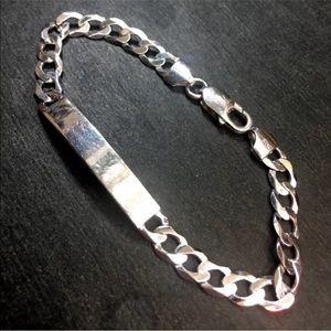 Jewelry - New 14k Layer On Solid Silver Italian Bracelet
