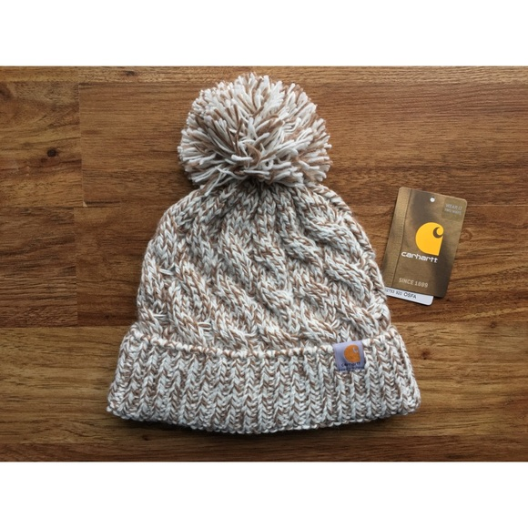 80b5d2d86fcd Carhartt Accessories | Cable Knit Pompom Hat | Poshmark