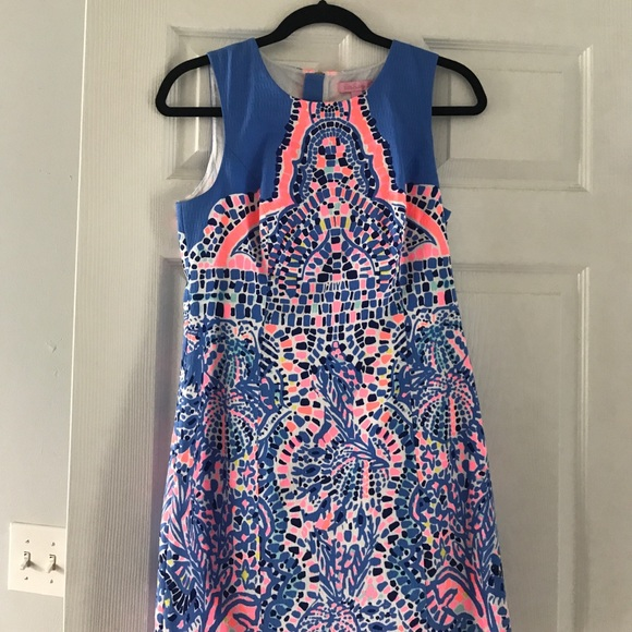 12cce6183d7382 Lilly Pulitzer Dresses & Skirts - Lilly Pulitzer Mila Shift in Tic Tac Tile
