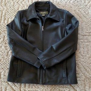 Women's real leather jacket