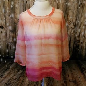 Chico's sheet pink top