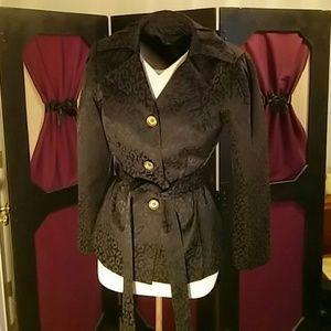 Black Leopard Print Jacket