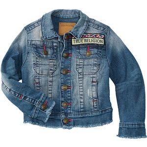 Nwt True Religion Girls Emily Denim Jacket 6X