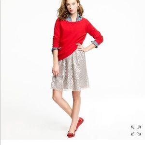 J Crew sparkle tinsel lace  skirt Sz 00 new