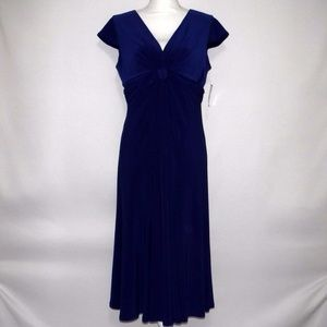 NWT Jones Wear Blue Midi Dress Size 10