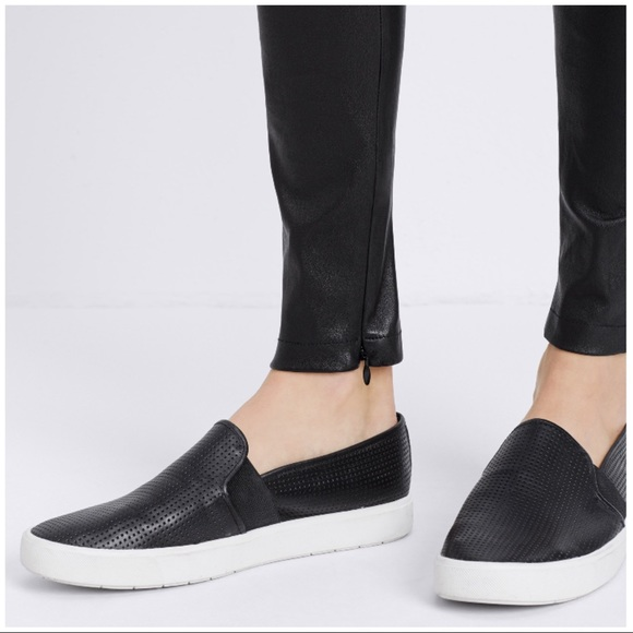 Vince Blair Perforated Leather Slip Ons