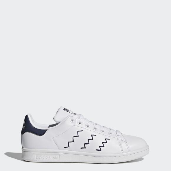 Adidas Stan Smith Yarn-embroidered zigzag stripe 8