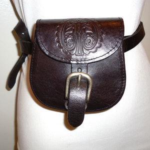 NWOT! Topshop Dk. Brown Leather Hip Bag
