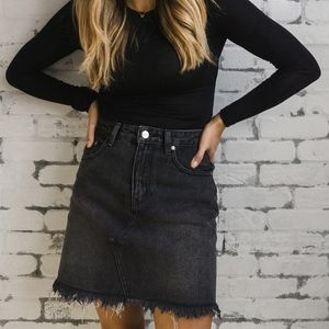 MINKPINK Mini Denim Skirt
