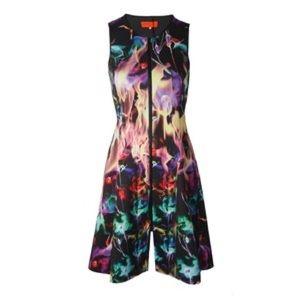 Clover Canyon Fire Flamenco Neoprene Dress XS