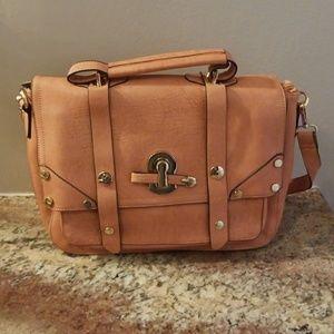 Pink vegan faux leather Melie Bianco crossbody