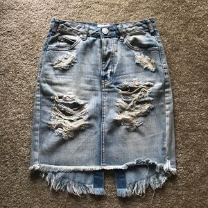 One teaspoon 2020 denim skirt