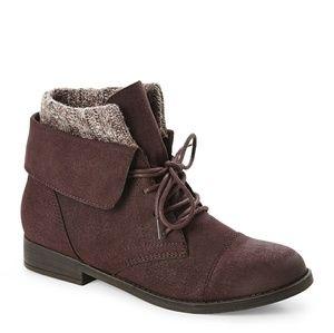 MADDEN GIRL Ruxben Burgundy Short Boots in Purple ...