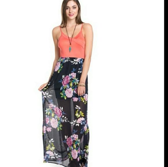 20a770b73ef1 HP Best in Dresses 🎊 Chiffon Floral Maxi Dress