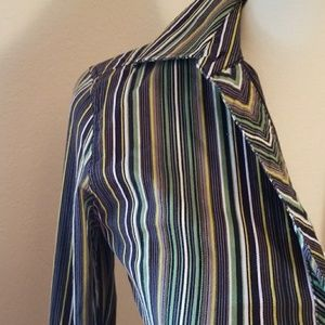 The Limited Tops - The Limited Striped Button Up Shirt