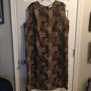 5 for $20 Oversized St. Marteen animal print dress