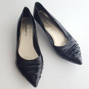 Matisse Black Patent Leather Kitten Heels