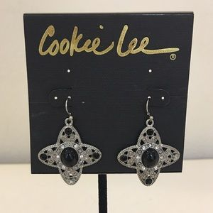 COOKIE LEE fashion earrings w genuine crystals