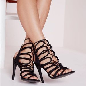 Laced Up Gladiator Heels
