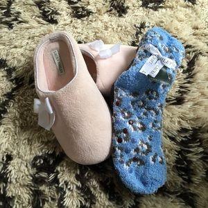 Slippers & cozy socks bundle