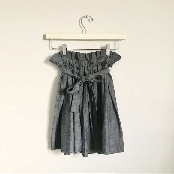 Anthropologie Dresses & Skirts - Staring at Stars Denim Chambray Mini Skirt XS