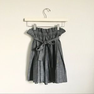 Staring at Stars Denim Chambray Mini Skirt XS