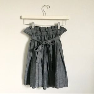 Anthropologie Skirts - Staring at Stars Denim Chambray Mini Skirt XS