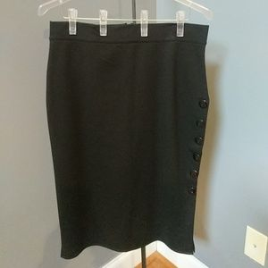 Dresses & Skirts - Cute fitted scuba skirt with black buttons